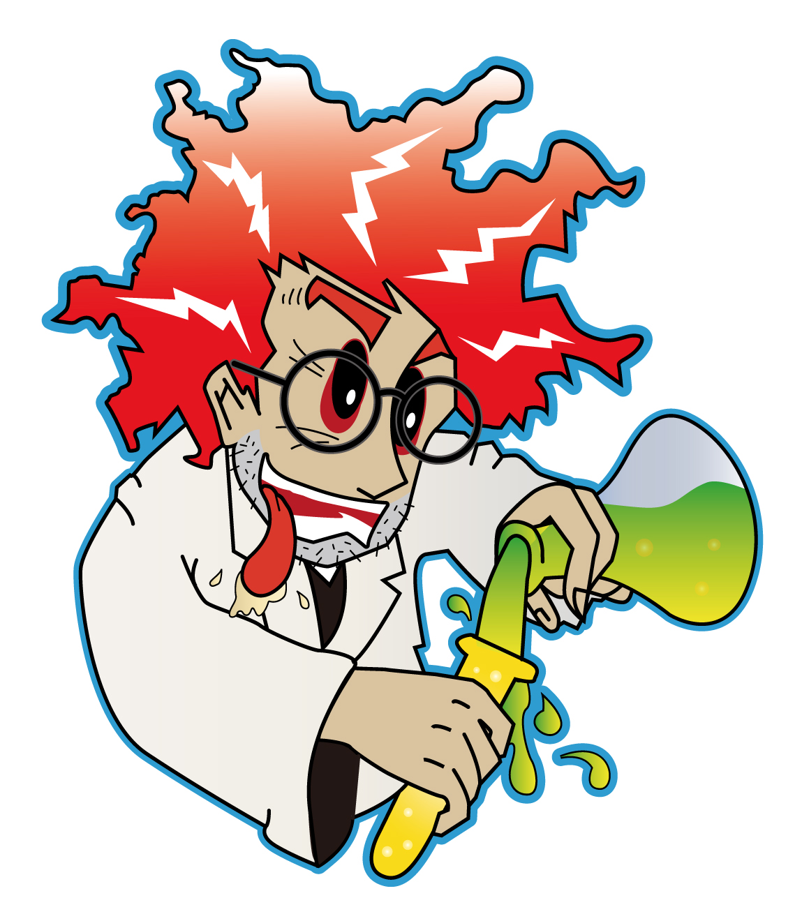 scientist mad clipart cartoon clip science lab crazy cliparts scientists illustrations coloring pages library attribution forget link don vector favorite