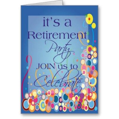 retirement flyer templates free
