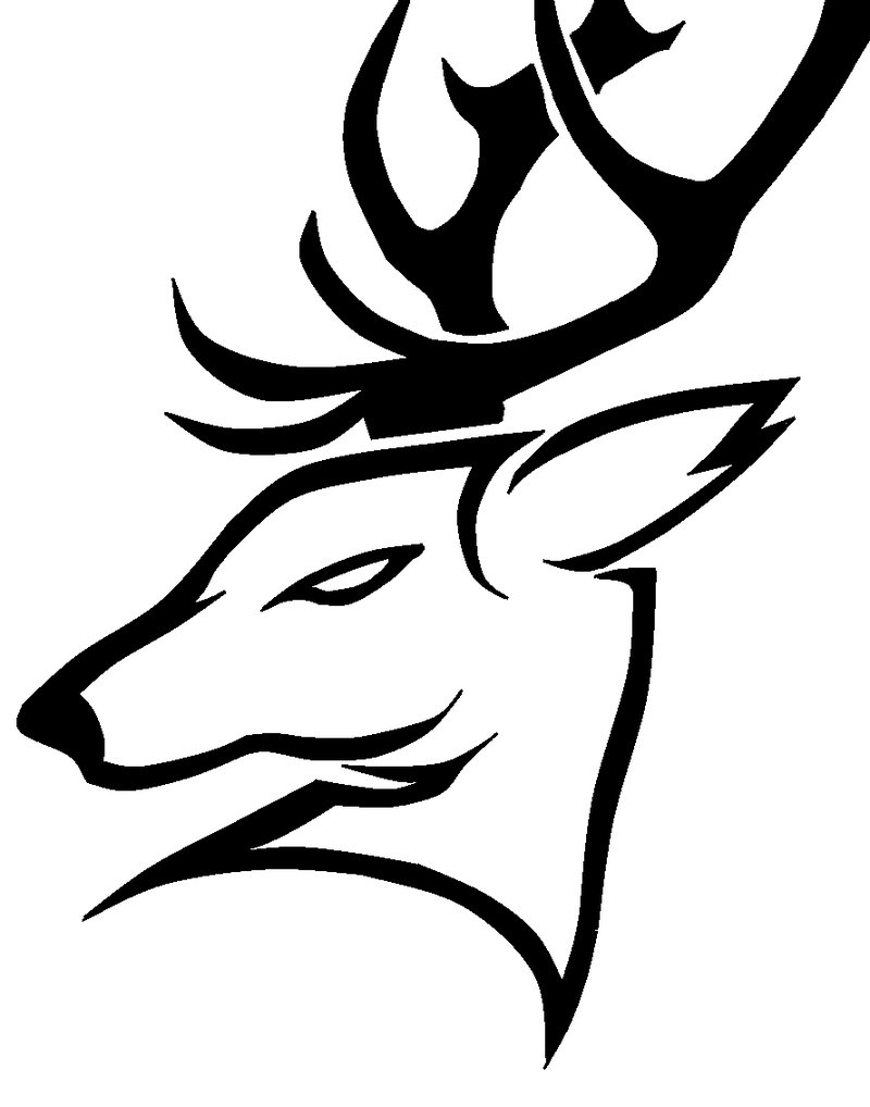Images For > Tribal Deer Head Tattoo