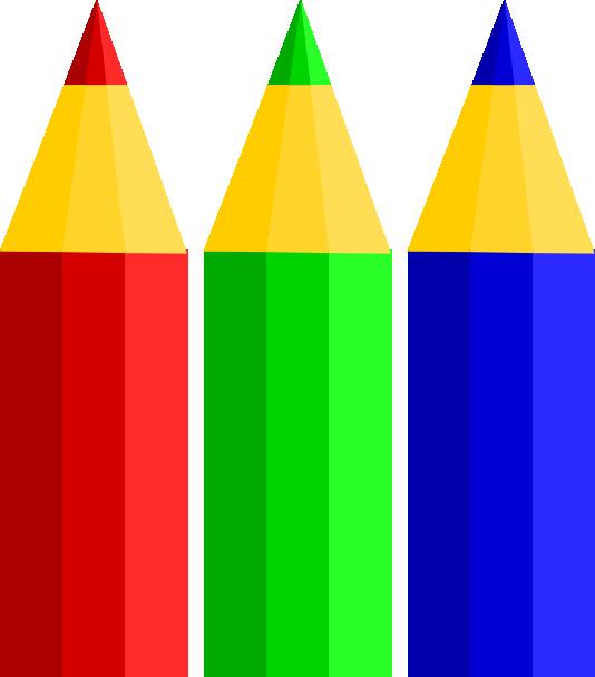 Color Pencils clip art - vector clip art online, royalty free ...