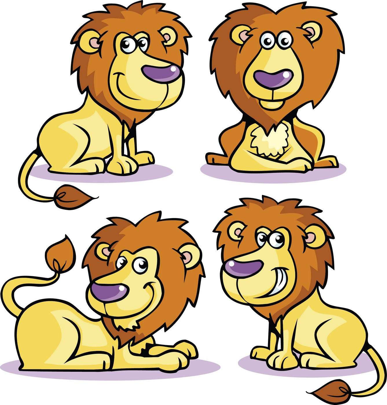 Animals cartoon drawing lion - photo#6