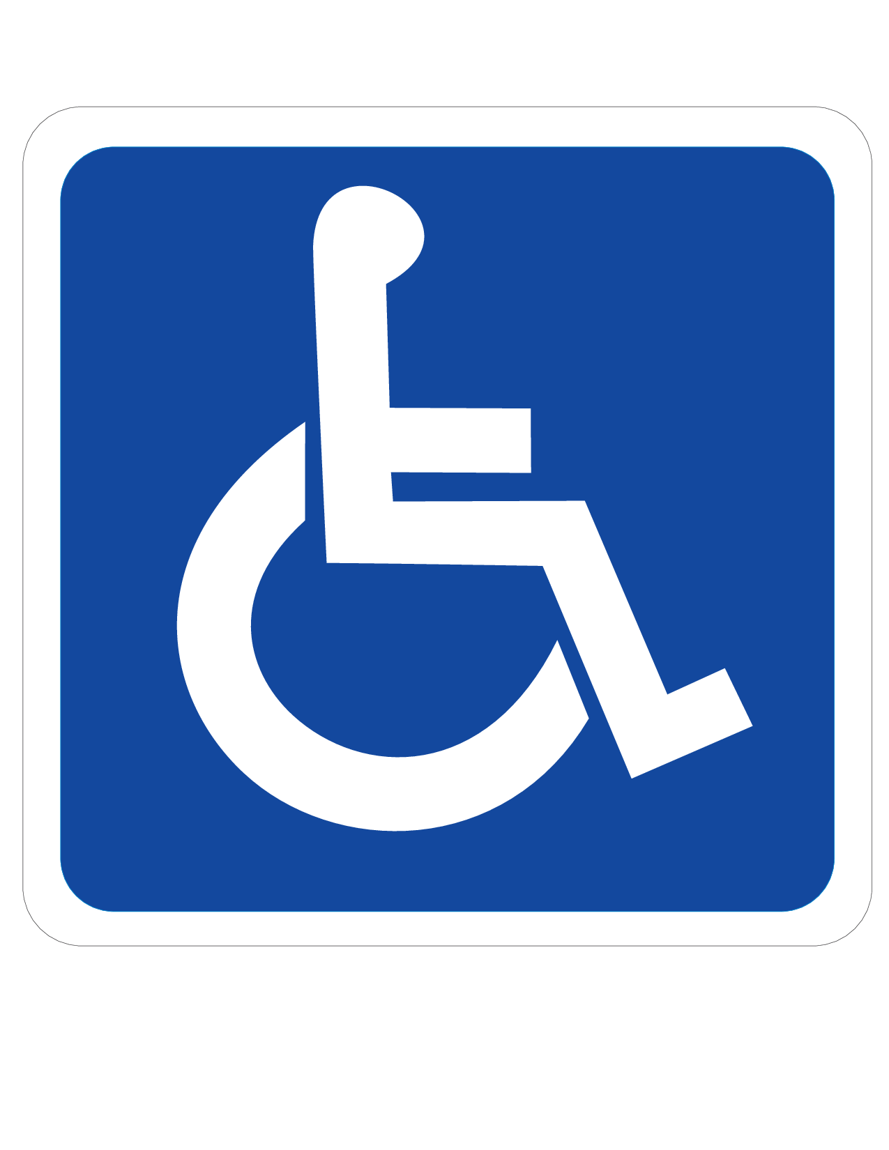 Striking image intended for printable handicap signs