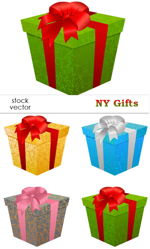 Christmas Gift Boxes Vector Set | Free Vector Graphics & Art ...
