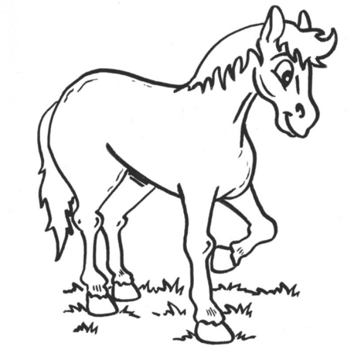 Horse rearing coloring pages - crazywidow.info