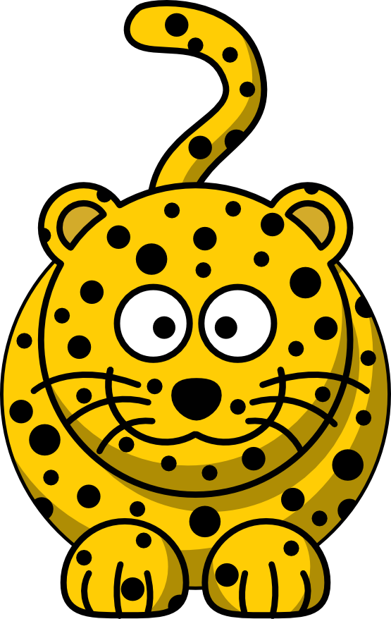 Cartoon Leopard Studiofibonacci Coloring Sheet Colouring Page ...