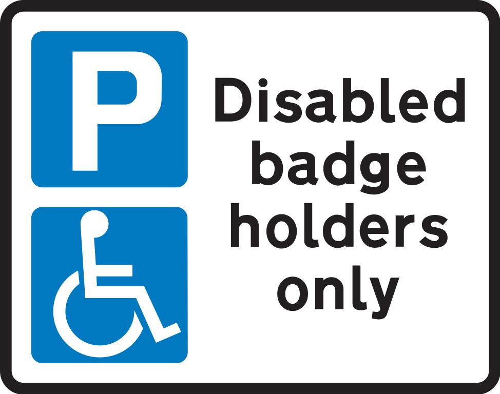 It's just a graphic of Challenger Printable Handicap Sign
