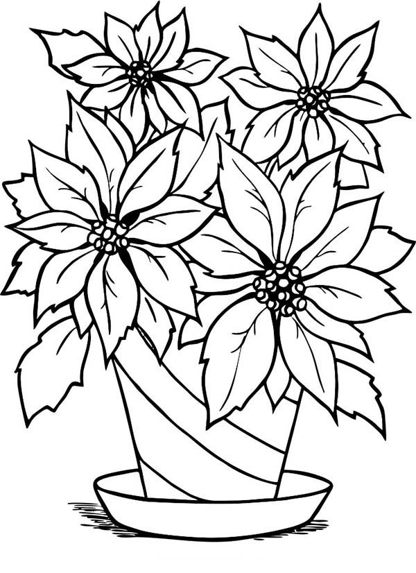 Line Drawing Of Flower Pot : Flower pot images cliparts