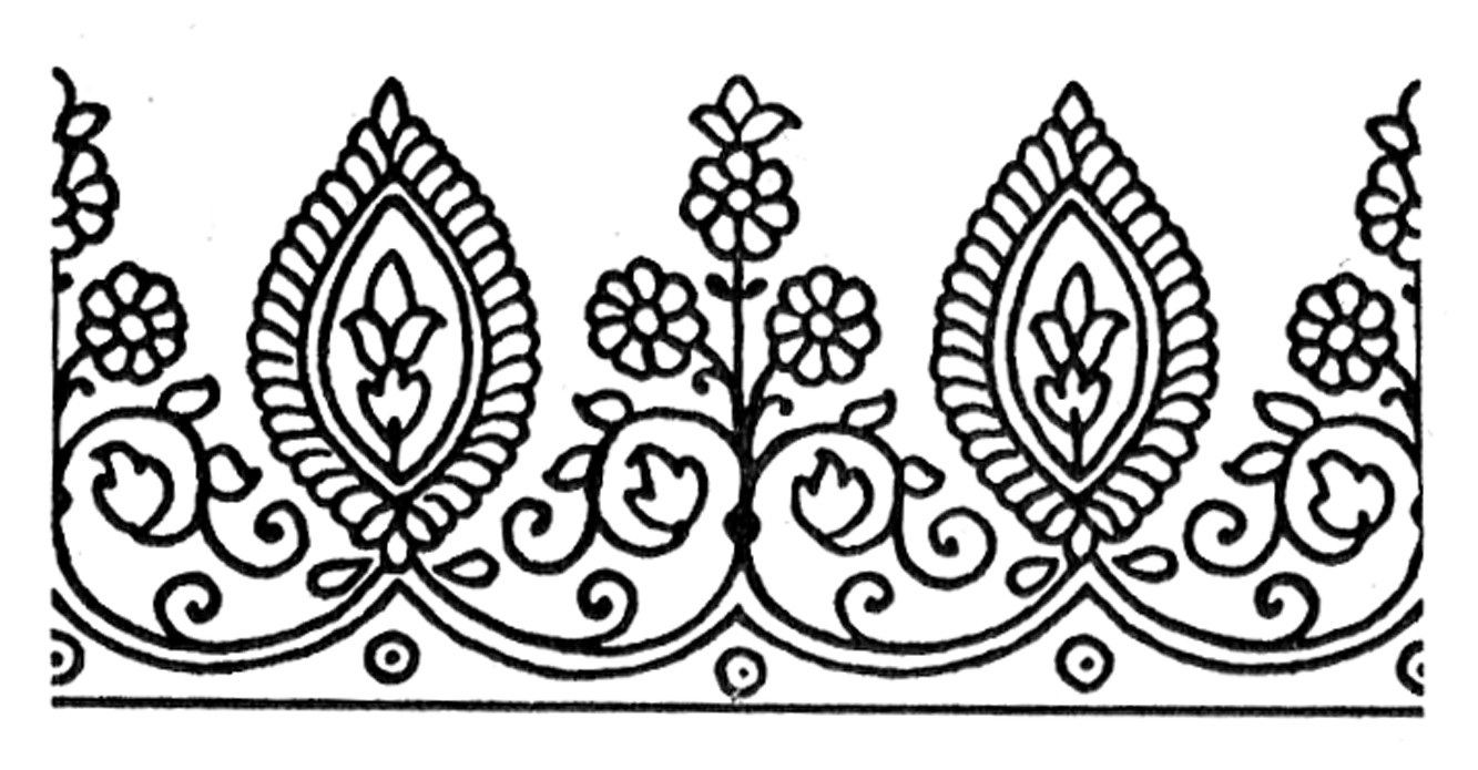 Henna Design Line Art : Tattoo border designs cliparts