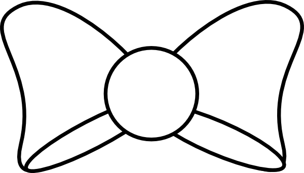 Black Bow Outline clip art - vector clip art online, royalty free ...