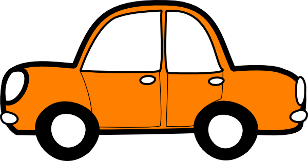 Orange Car clip art - vector clip art online, royalty free ...