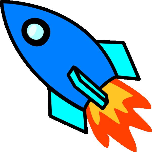 Blue Rocket clip art - vector clip art online, royalty free ...