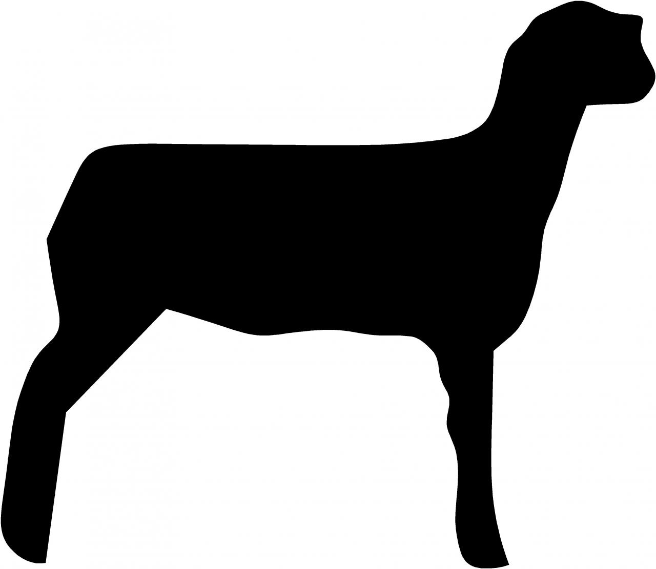 Images For > Sheep Outline Clip Art