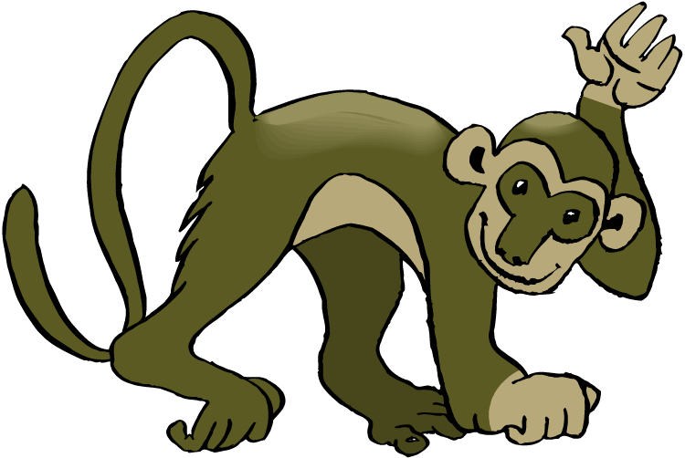 General collection Swinging monkey clipart first she