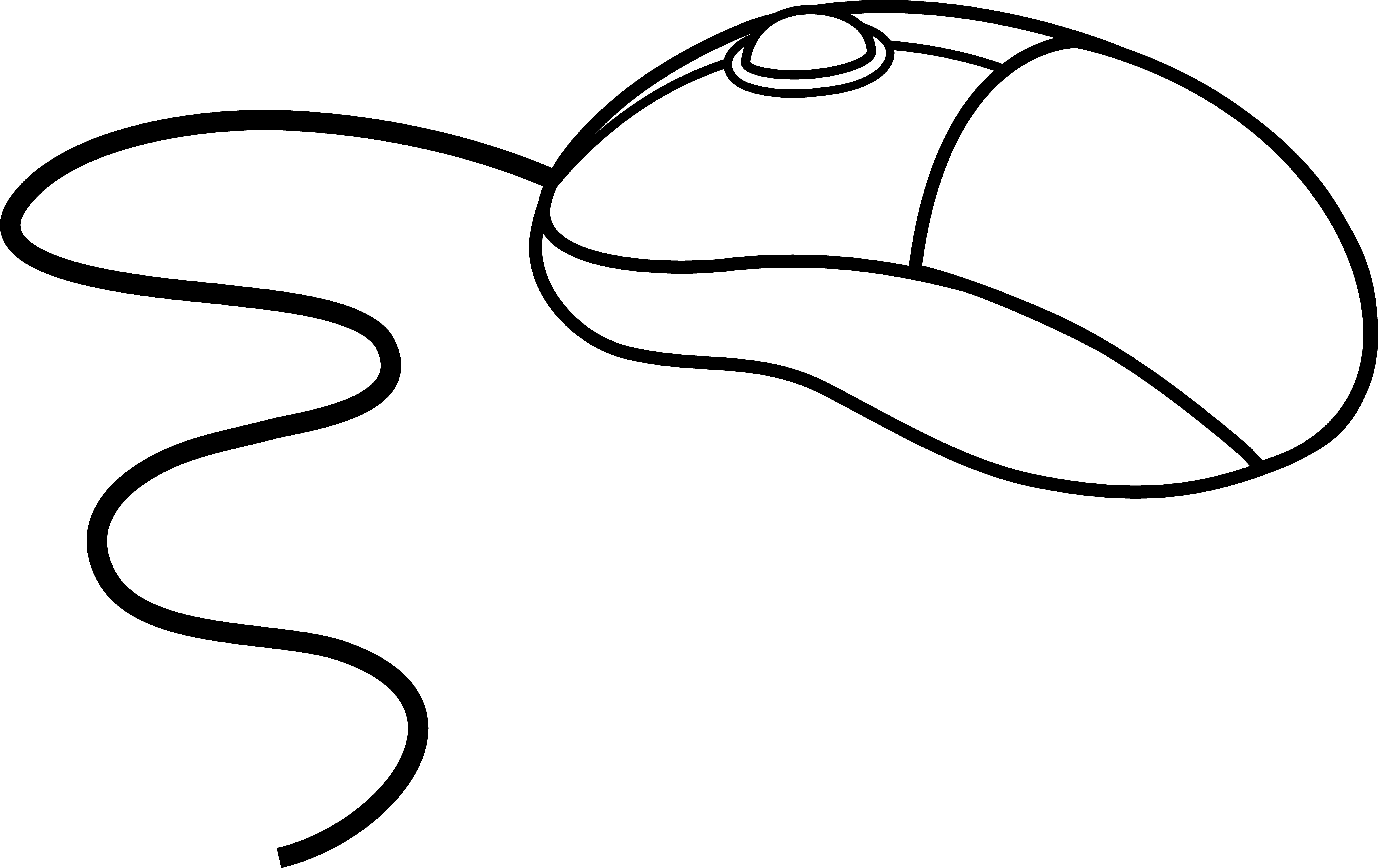 Computer Mouse Clipart Black And White | Clipart Panda - Free ...