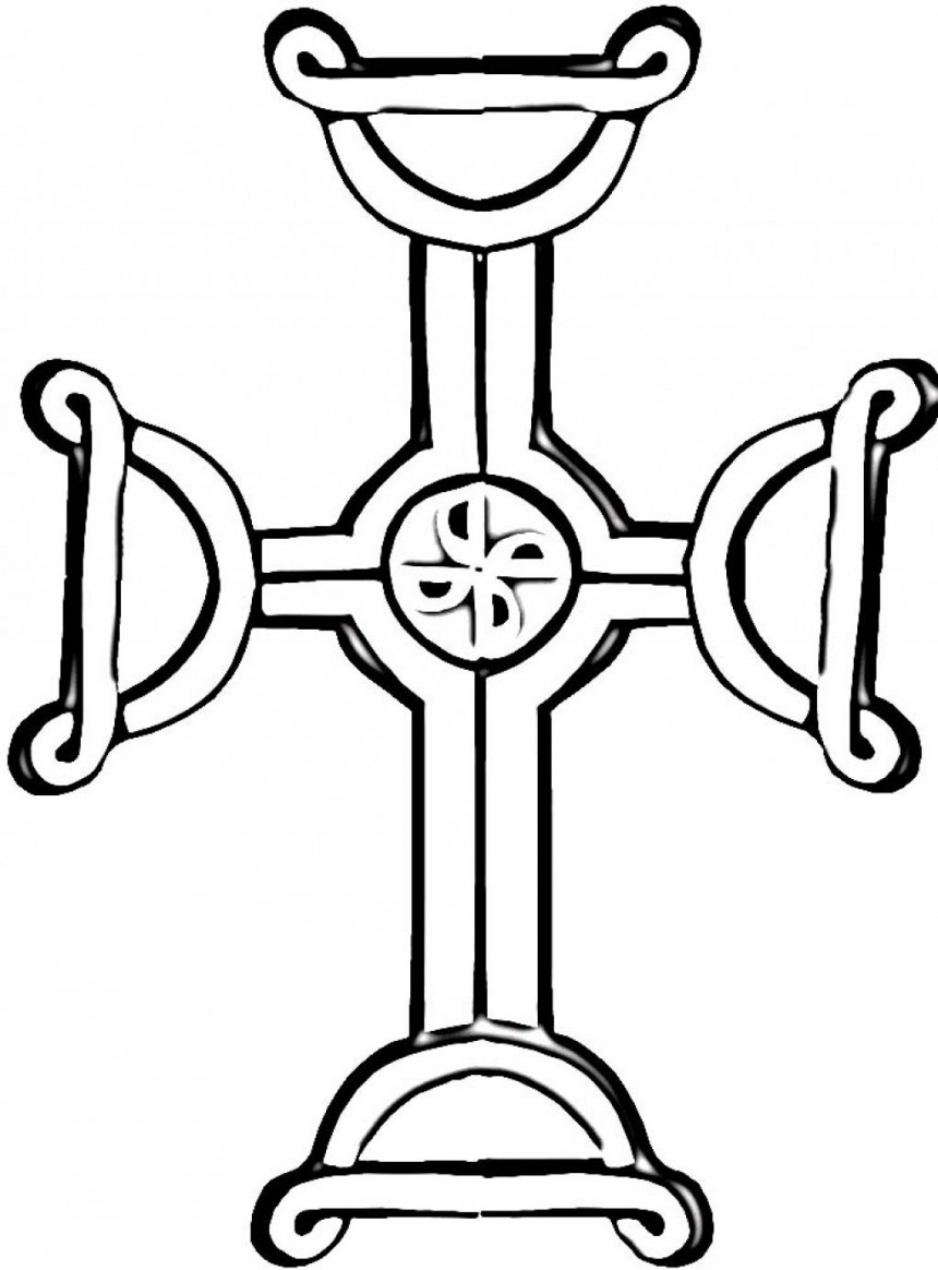 Wooden cross drawing for Coloring pages of crosses and roses