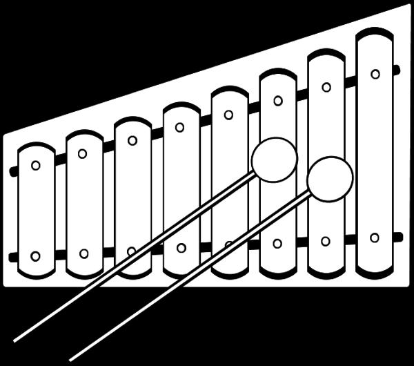 Xylophone Lineart - vector Xylophone Outline