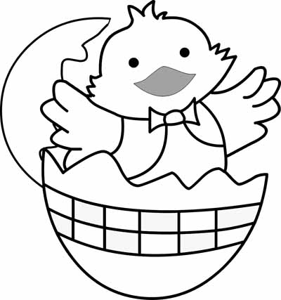 Easy Easter Coloring Pages Chicken Pictures To Colour In Cliparts Co