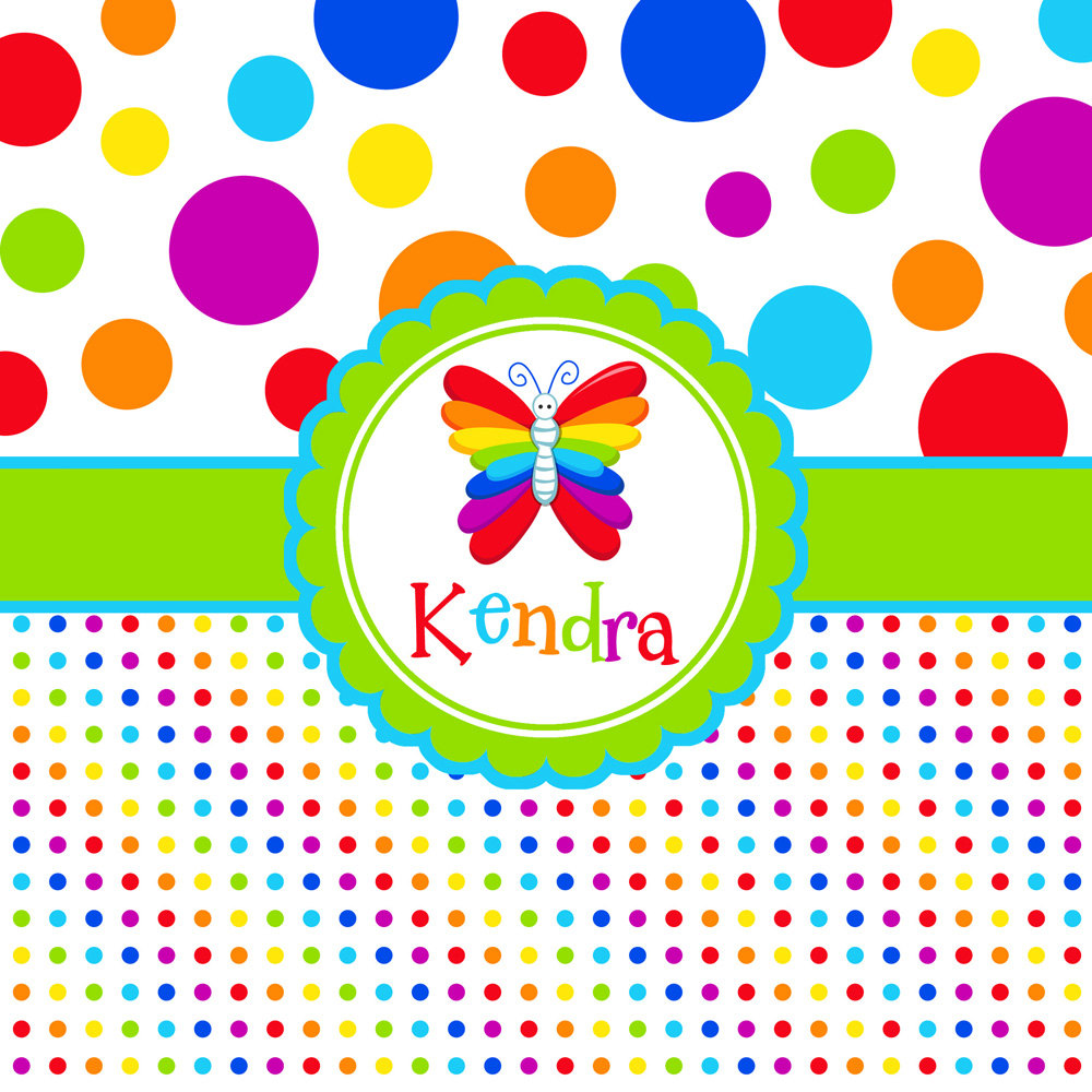 background polkadot rainbow clipartsco