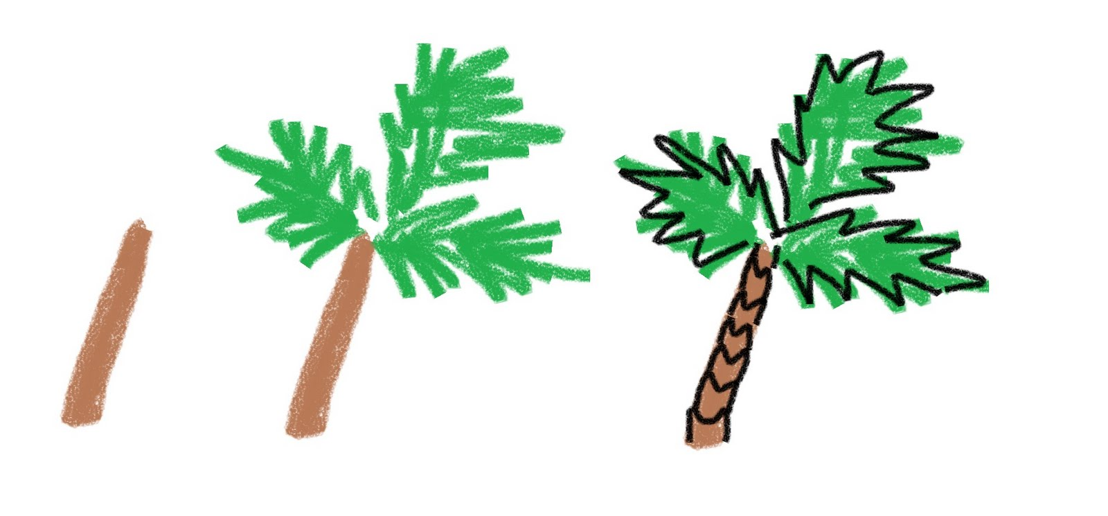 palm tree drawing cliparts co