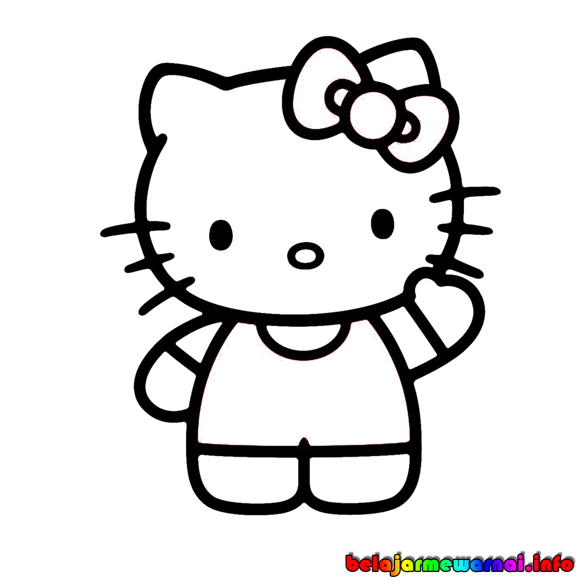 Gambar Hello Kitty Hitam Putih Cliparts