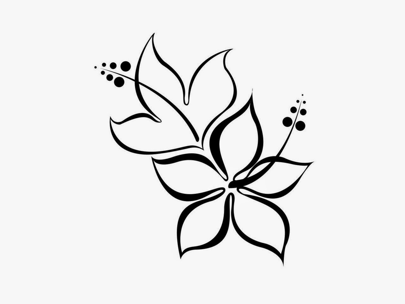 Simple flower designs black and white - Any design using black and white ...