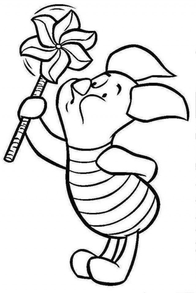 baby pooh clipart coloring pages - photo#22