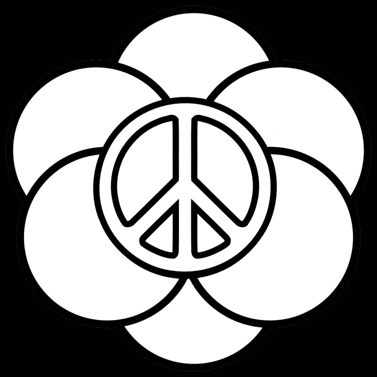 Peace Sign Coloring Pages Printable. top 25 free printable peace ... | 750x750