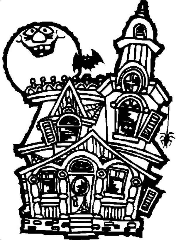 Mansion Drawing: Cartoon Haunted House Pictures