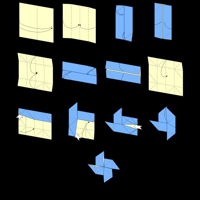 Как сделать ключ из оригами