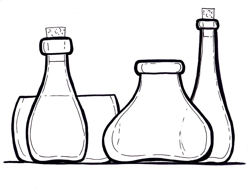 Wine glass coloring page