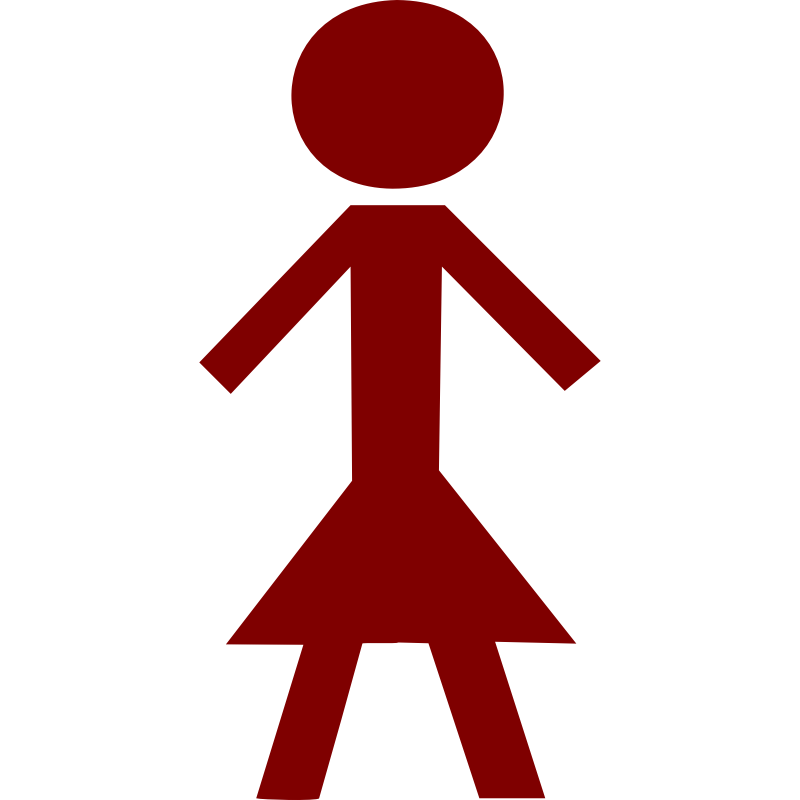Clipart - Stick figure: female