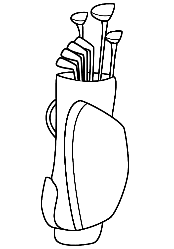 golf printable coloring pages - photo#33