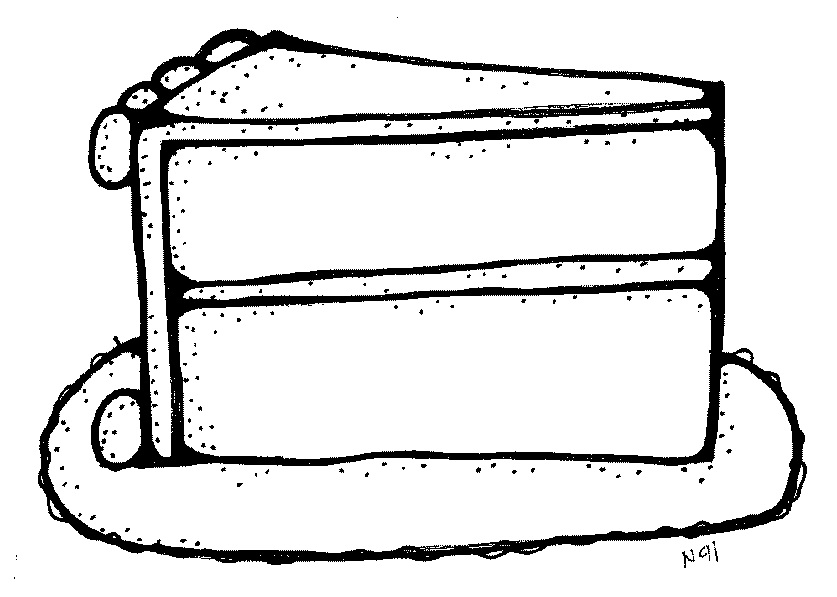 Cake Clipart Black And White : Slice Of Cake Clipart - Cliparts.co