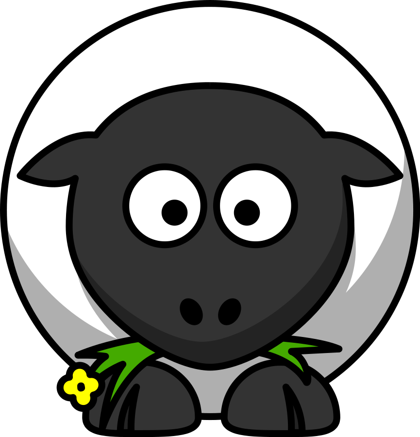 Sheep Eating Clipart, vector clip art online, royalty free design ...