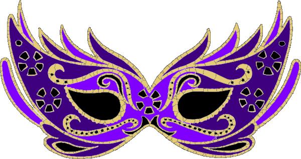 Purple Masquerade Mask clip art - vector clip art online, royalty ...