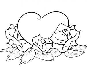 Heart And Rose Love Drawings drawings of roses and hearts