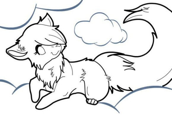 Wolf Coloring Pages Pu...