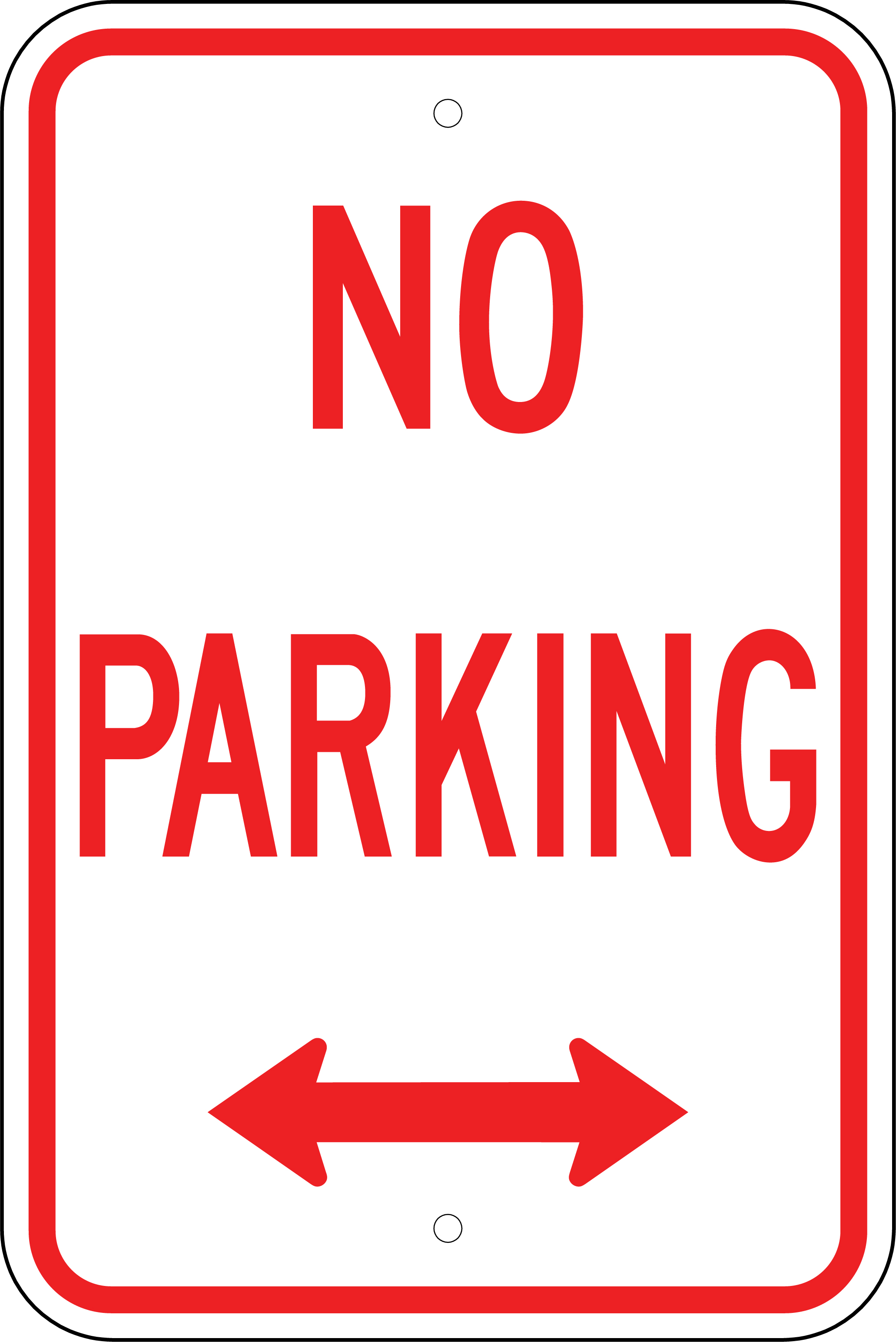 This is a graphic of Massif Printable No Parking Sign