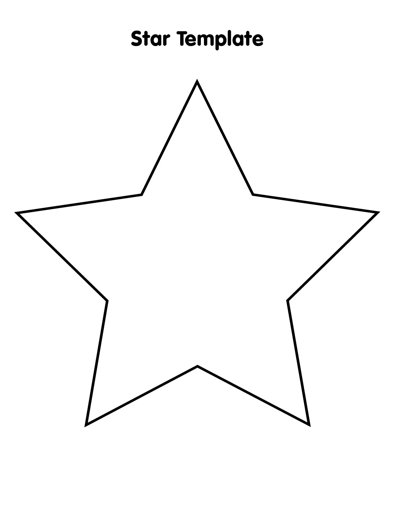Large Star Template To Print - Cliparts.co