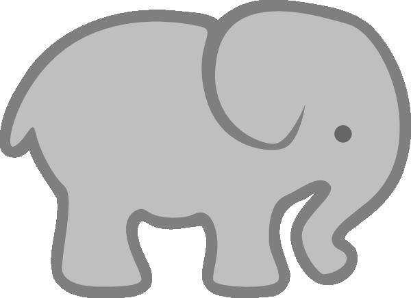 Gray Elephant Outline clip art - vector clip art online, royalty ...