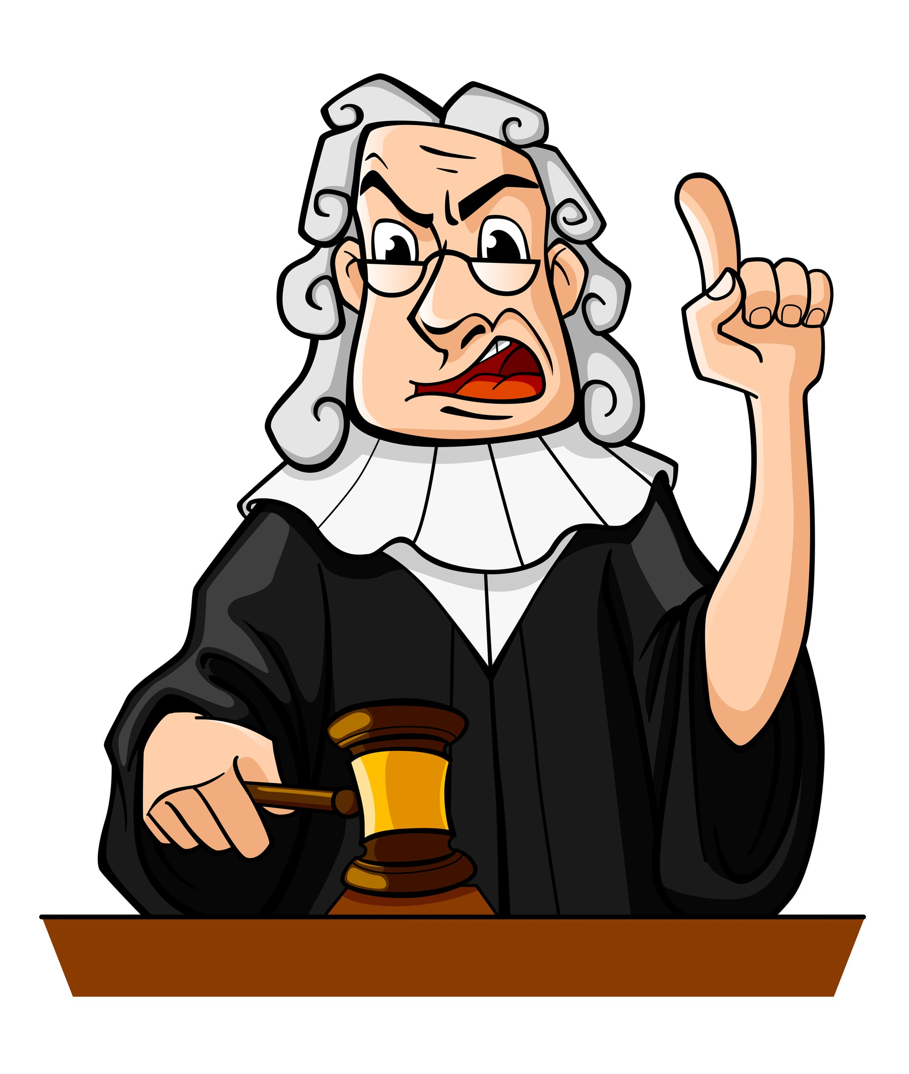 cartoon judge cliparts co Judge Gavel Clip Art Black and White Scales of Justice Gavel Clip Art