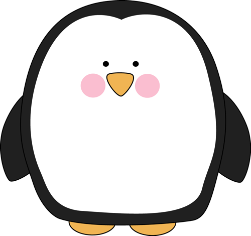 Cute Penguin Clip Art Black And White | Clipart Panda - Free ...