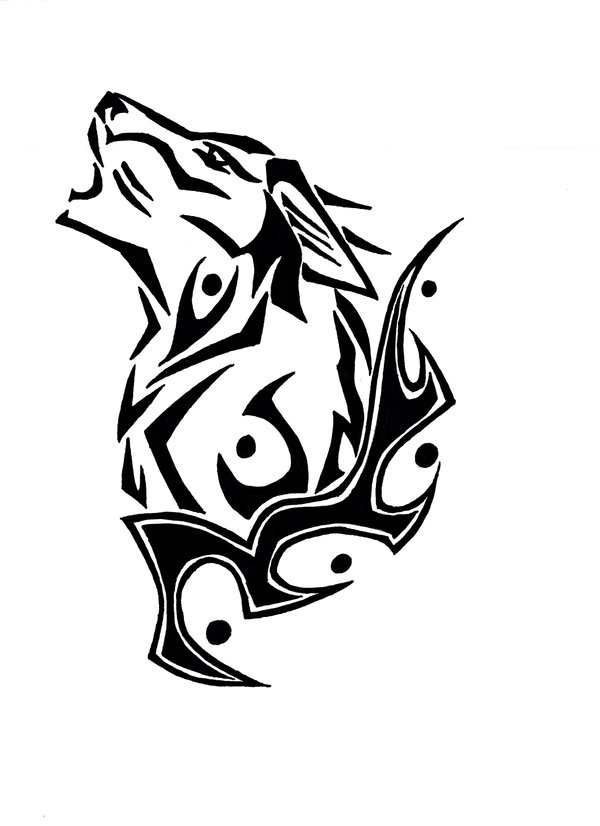 a583c3f51ded6 Wolf Howling Tattoo Outline Deviantart More Like Wolf Clan Karim ...