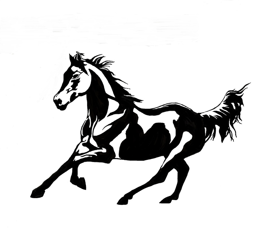 Reining Horse Silhouette