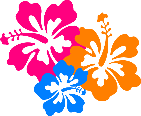 Hibiscus Flower Outline - ClipArt Best