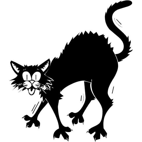 Halloween Scary Cat - Cliparts.co
