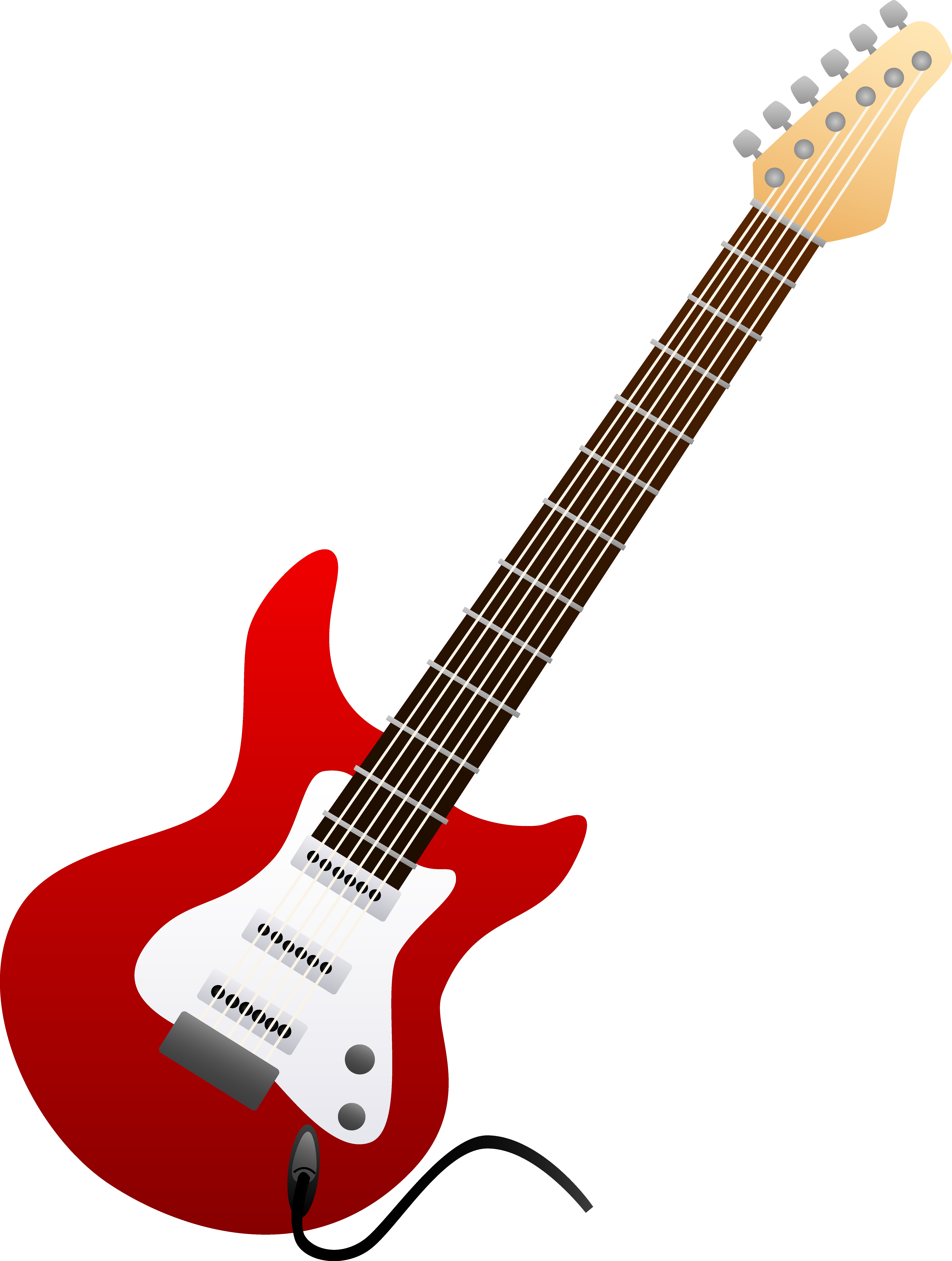Electric Guitar Red image - vector clip art online, royalty free ...