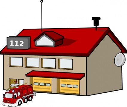 Fire Station clip art Vector clip art - Free vector for free download