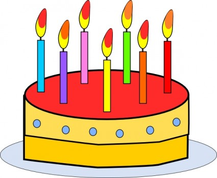 Birthday cake with candles clip art Free vector for free download ...