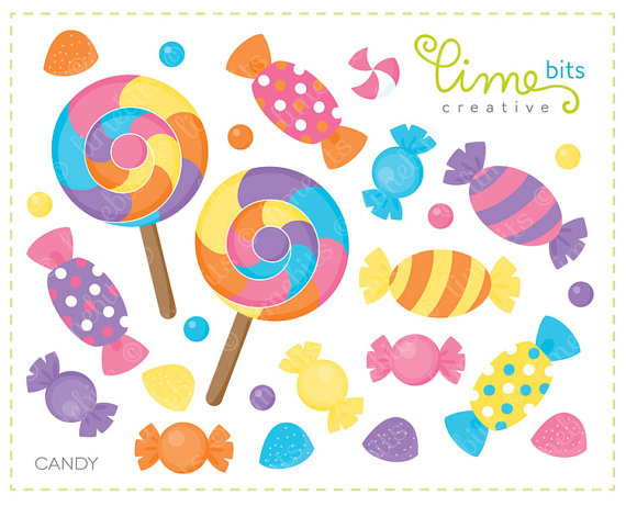 Candy Clip Art by LimeBitsCreative on Etsy